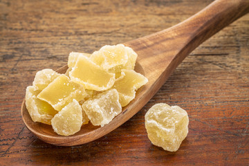 crystalised ginger spicy snack