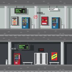 Flat design of underground subway