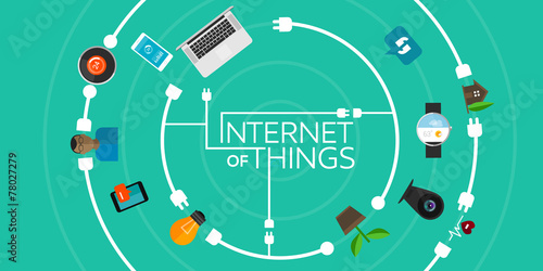Internet of Things flat iconic illustration - 78027279