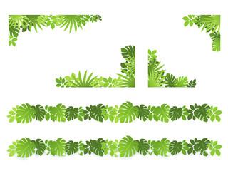 植物 枠 装飾