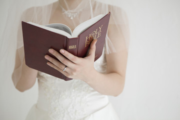 Bride are reading the Bible