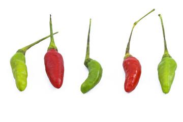 Thai Paprika isolate on white