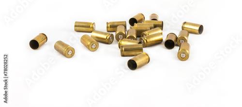 Leinwandbild Motiv ammunition shell 9 mm.