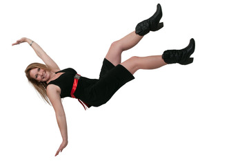 Woman Falling Down