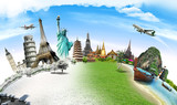 Fototapety Travel the world monument concept