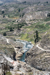 Canyon of the Colca River in southern Peru