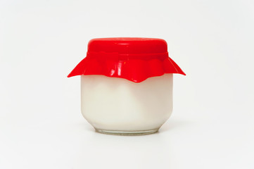 Jar of yogurt