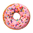 Donut with sprinkles isolated - 78029240