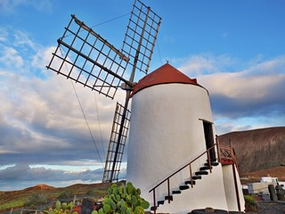 Windmill at Lanzarote, Canary Islands, Spain