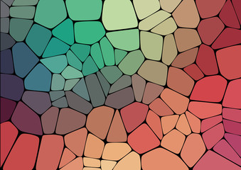 Flat Style colorful mosaic abstract background