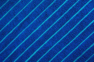 Blue beach towel texture