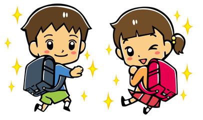ピカピカの小学生