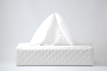 白い箱のティッシュ