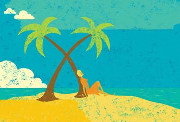 Woman on an island