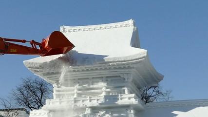 祭りの後・札幌雪祭り_1_ハイスピード撮影