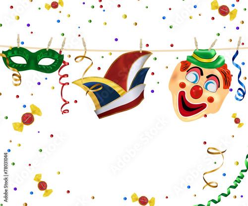 Fasching Deko gamesageddon faschingsdeko an wäscheleine karneval lizenzfreie
