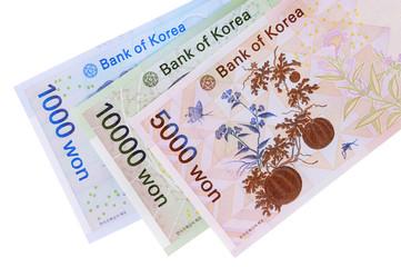 Korean Won currency bills