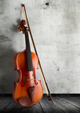 Fototapety classical violin in vintage background