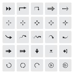 Black set of different vector arrows