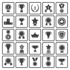 Black avards  icons set