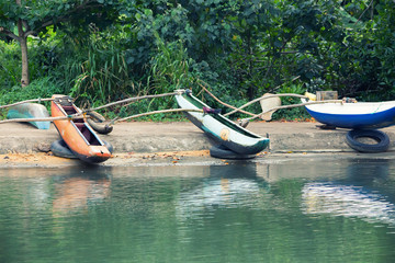Sri Lankan native boats