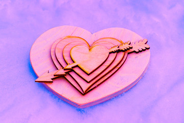 Heart pierced by an arrow of Cupid, Valentine, Valentine's Day -