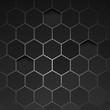 Abstract black background hexagon. Vector