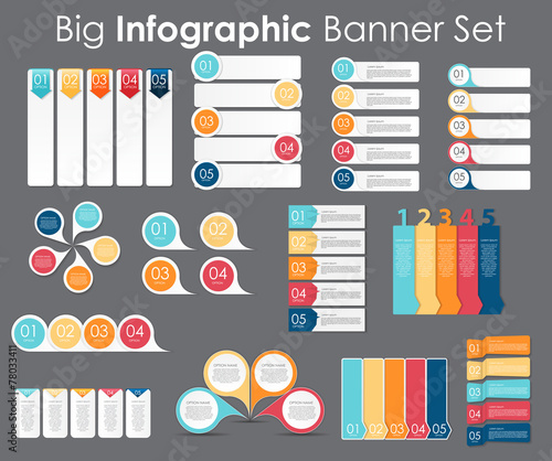 Infographic Design Elements for Your Business Vector poster