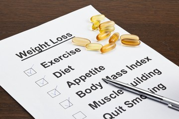 weight loss schedule with pen and capsules