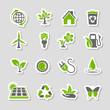 Environment Icons Sticker Set