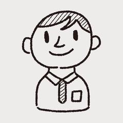 doodle businessman