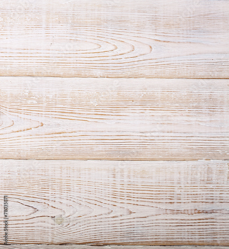 Wooden texture white top view.