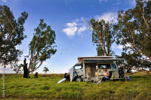 Travelling In A Campervan - 78035423