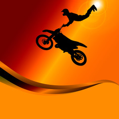 Vector silhouette of a motorcycle.
