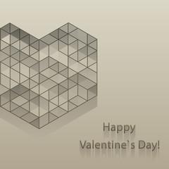 Greeting love card.