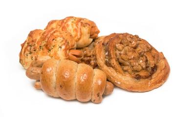 Variety of bread in basket