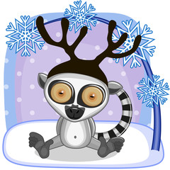 Lemur with antlers