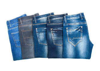jeans on a white background on a white background