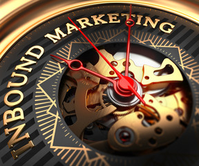 Inbound Marketing on Black-Golden Watch Face.