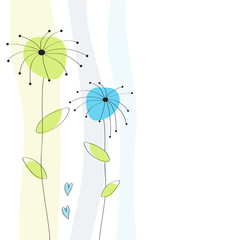 Grußkarte Hintergrund grün Blumen Karte