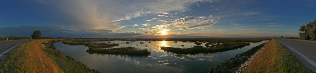 sunset above the lagoon