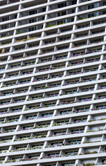 floors of high-rise building with windows and balconies