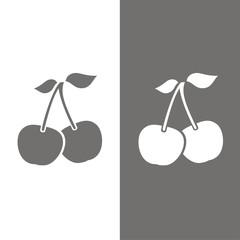 Icono Fruta_Cerezas BN