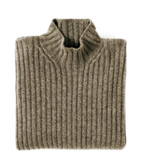 Folded Cashmere Turtle Neck Sweater