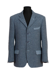 Mannequin in Elegant Gray Business Suit