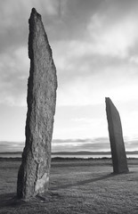 Ring of Brodgar. Prehistoric stone circle in Orkney. Scotland