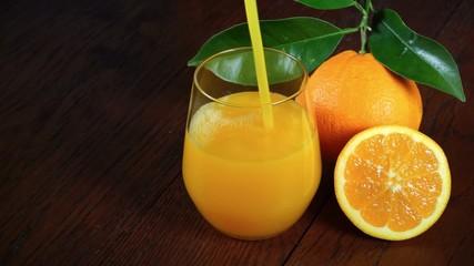 orange juice pour in a glass