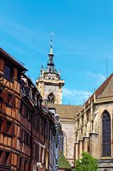 Maisons  alsacienne et son église