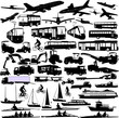 transportation silhouettes collection 3 - vector
