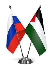 Russia and Palestine - Miniature Flags.